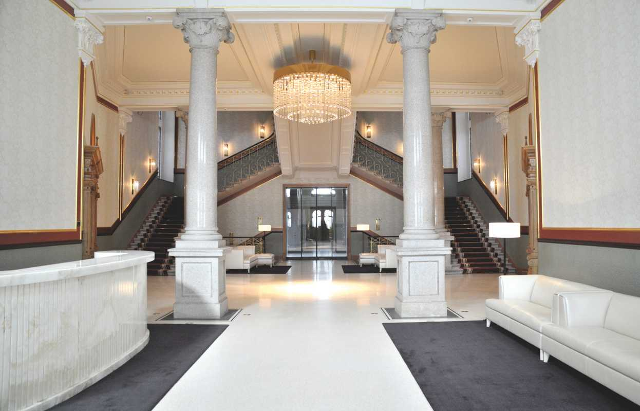 The main lobby and entrance