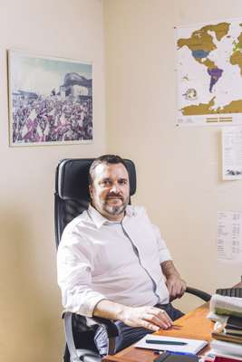 Brian Reyes, the editor of the Gibraltar Chronicle