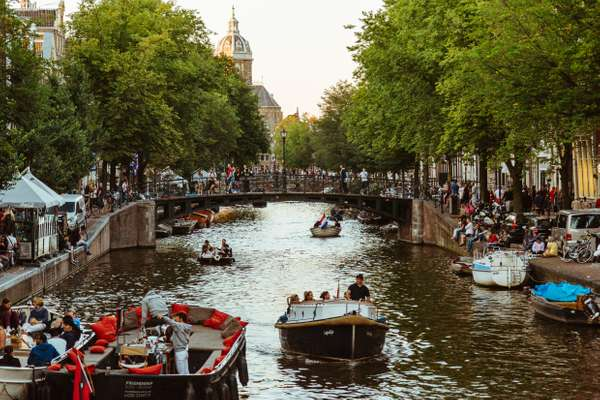 It wouldn't be a story about the Netherlands without a photograph of a busy canal
