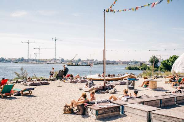 They make their own beaches in Amsterdam