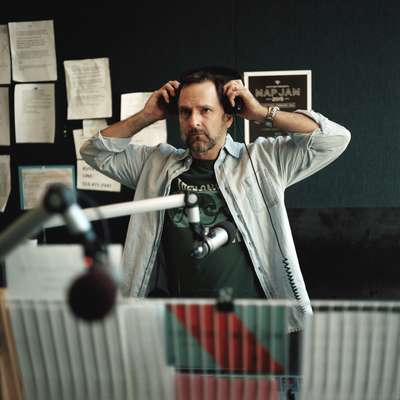 KUTX music host Rick McNulty in his studio