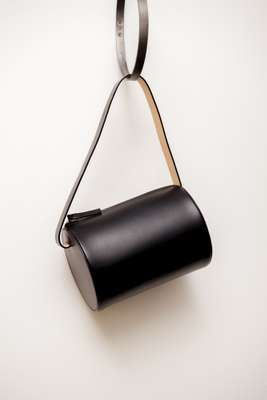 Geometric leather handbag from Building Block