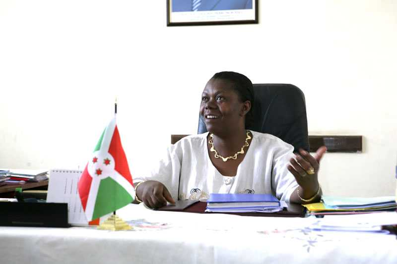 Trade, industry and tourism minister Euphrasie Bigirimana