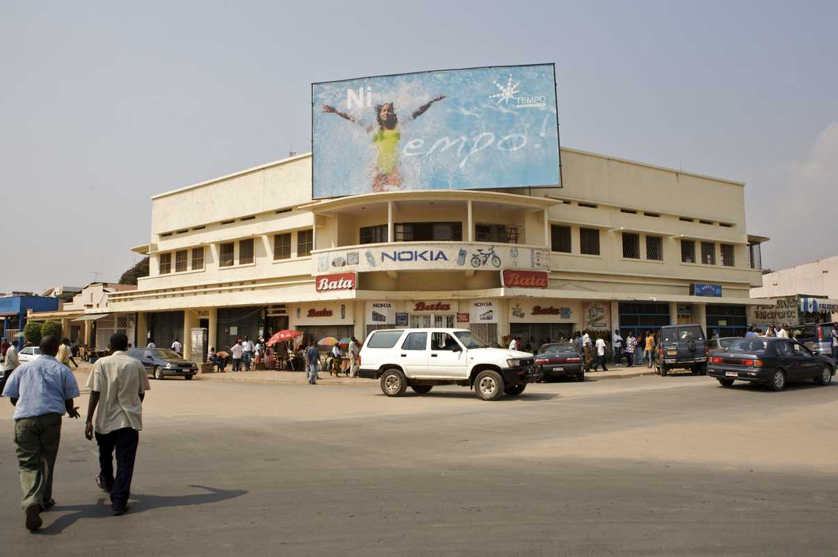 Advertising in Bujumbura city centre
