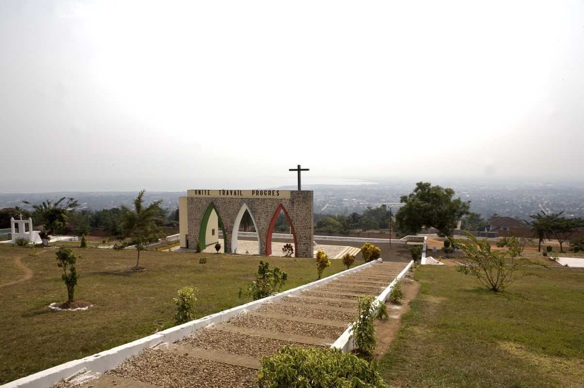 Independence monument on a hill overlooking Bujumbura