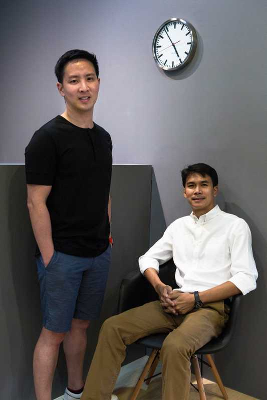 Anuthin Wongsunkakon (left) and Pongtorn Hiranpruek, the founders of Cadson Demak