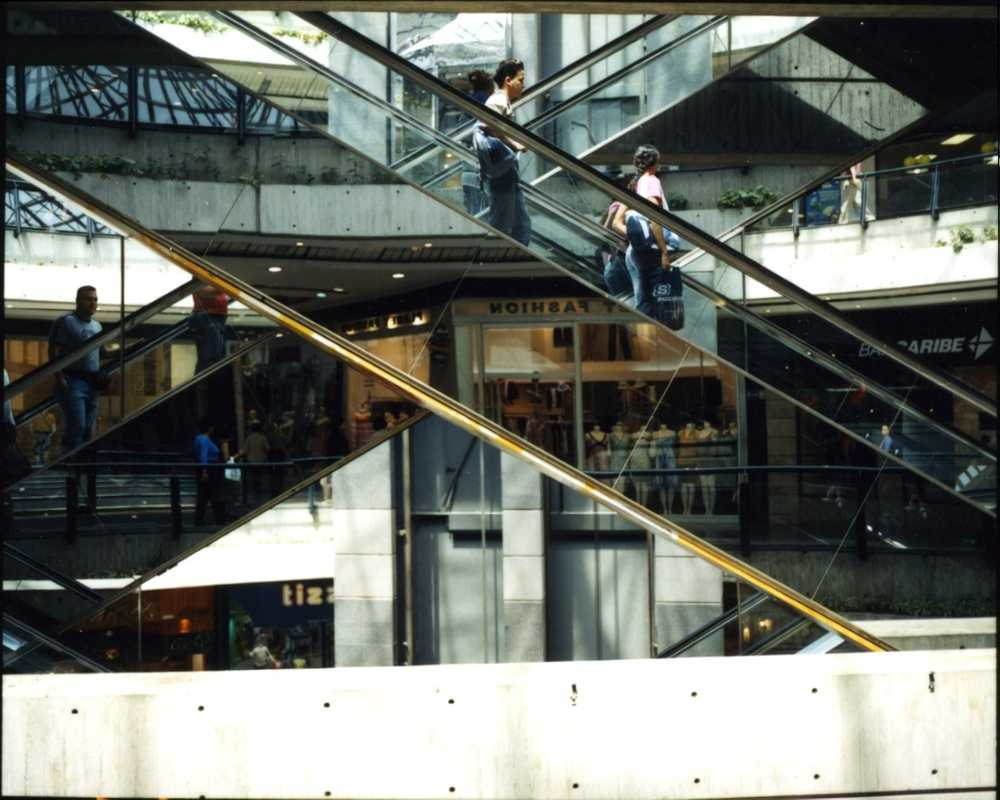 Interior of one of Caracas's many shopping malls