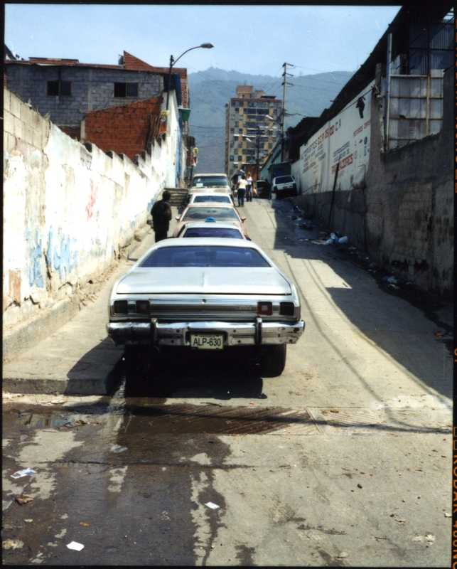 Caraqueño street, looking towards the Cordillera de la Costa mountains