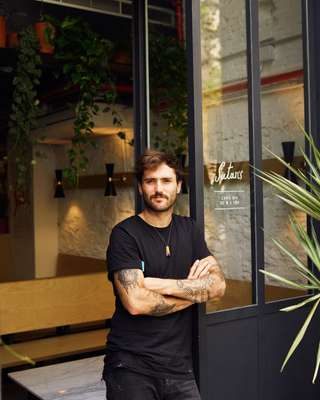 Marcos Bartolomé, owner of Satan's Coffee Corner