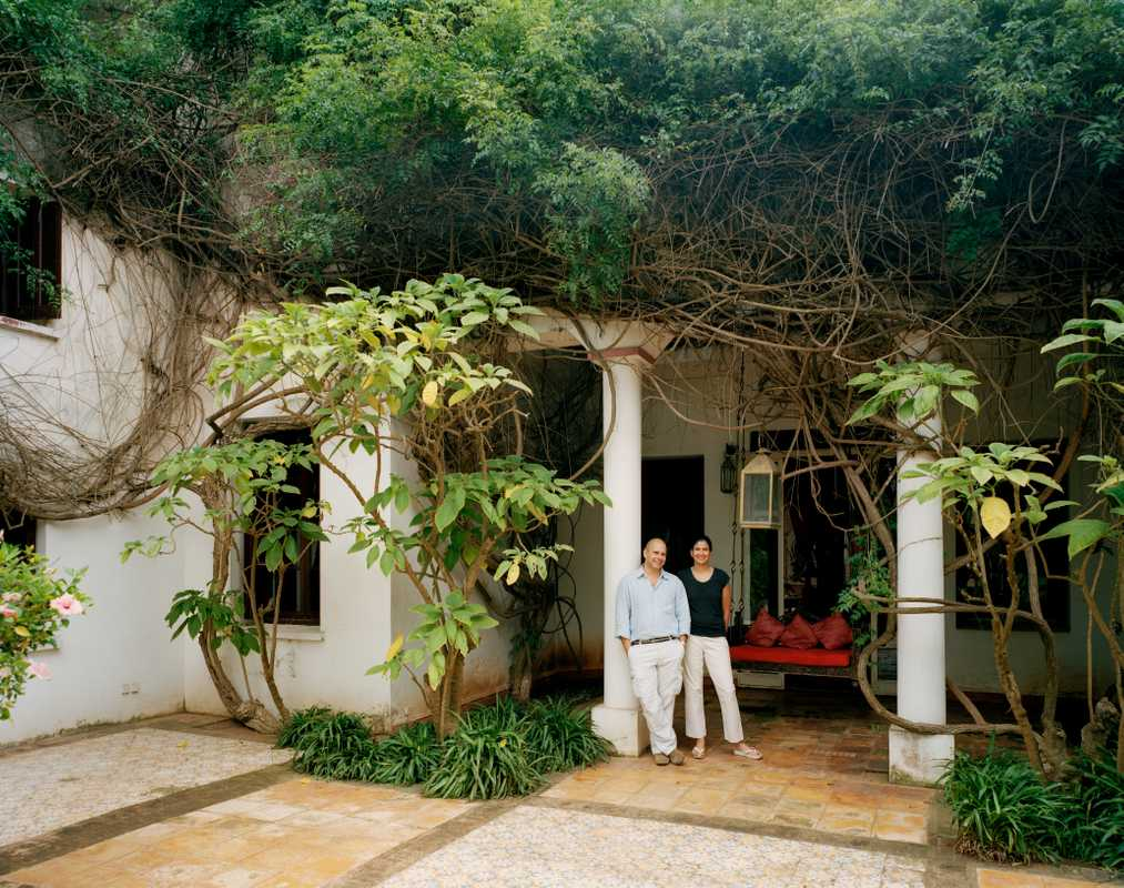 Tahir and Rachana Shah at their home