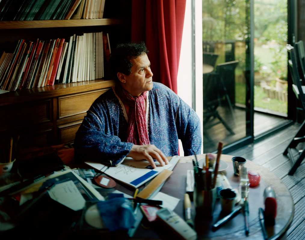 Mehdi Qotbi at his home