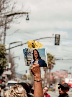 A ballot cast for London Breed