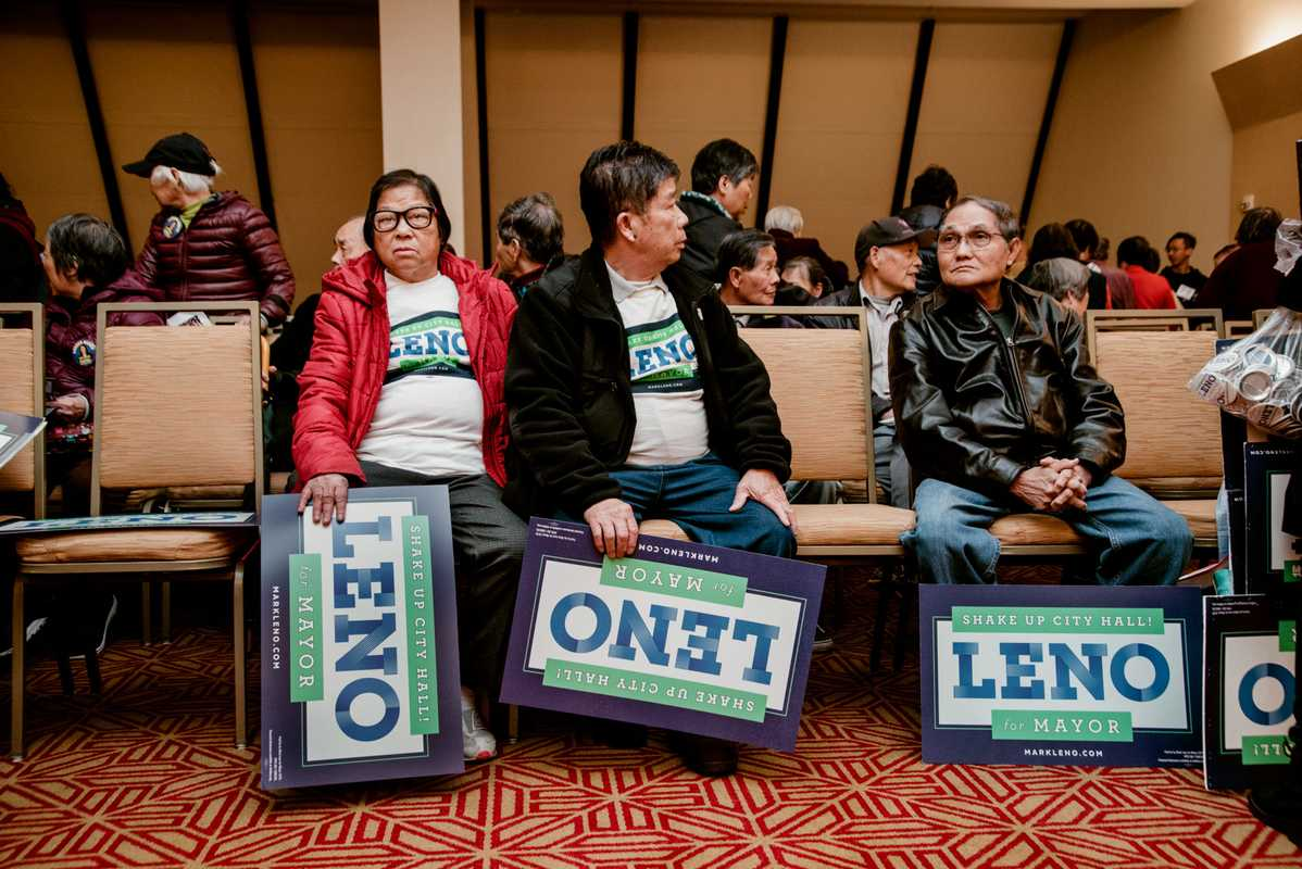Supporters turn out for Leno