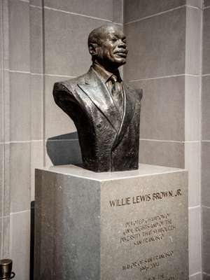 Bust of Willie Lewis Brown Jr, the 41st mayor of San Francisco