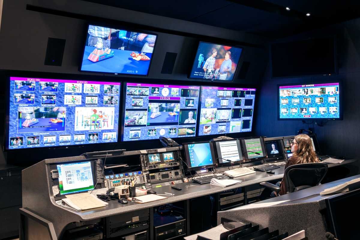 KQED TV control room