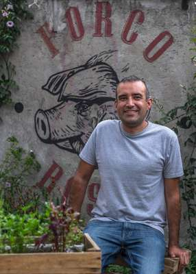 Pedro Ochoa, co-owner of Porco Rosso