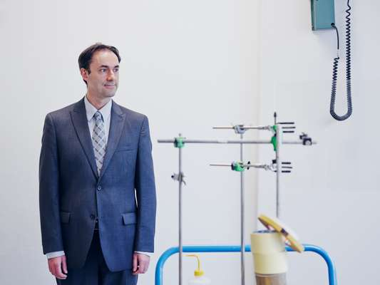 Ali Zadeh, head of components evaluation, at the radiation test facility