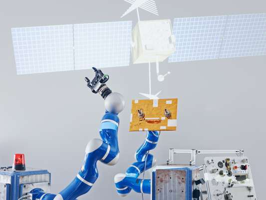 Kuka lightweight robot in the telerobotics laboratory