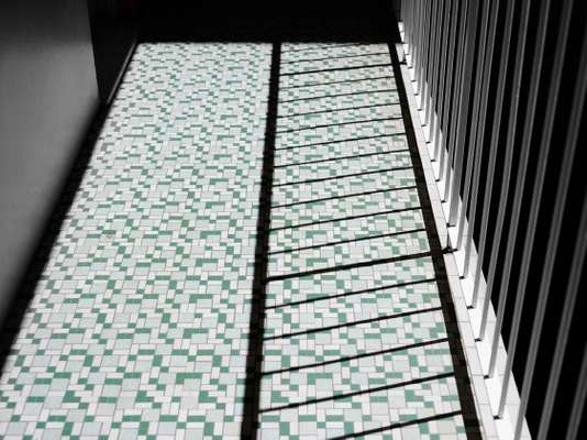 Retro tile pattern in Kinkabool apartment block