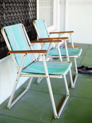 Old beach chairs in Tweed Heads