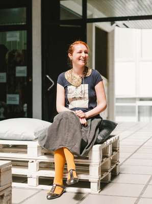 Fashion designer Aleksandra Lalic in Belgrade's Choomich Design District