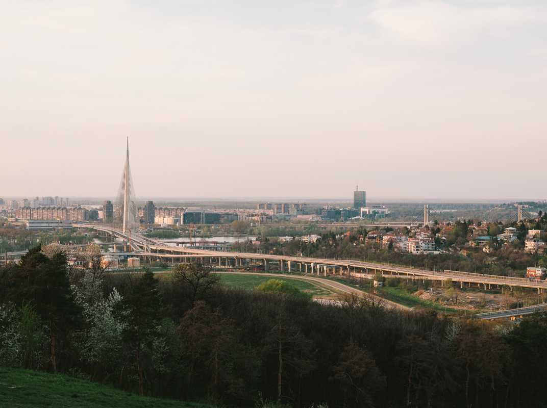 Ada Bridge, opened in 2012, is a signifier of Belgrade's development