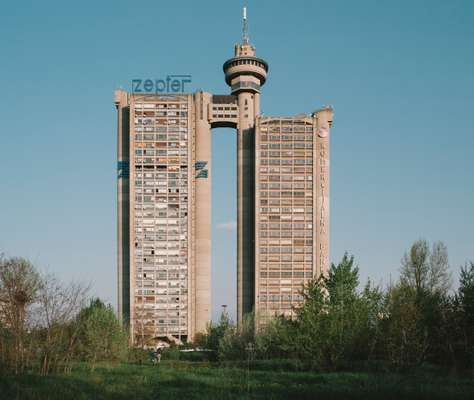 Genex Tower, built as a symbol of socialist Yugoslavia