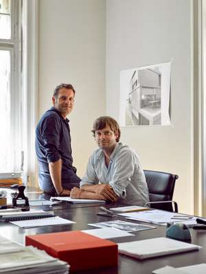 Architects Philipp Kunz (left) and Renato Mösch