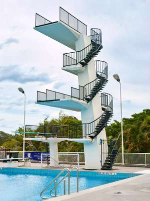 Centenary Pool's 10-metre diving board