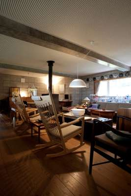 Second floor living room, with Easy Chair and Rocking Chair (Hans J Wegner, Johannes Hansen)