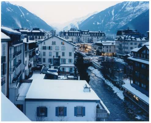 The sturdy town of Savoyard Chamonix, shovelled into the narrow valley