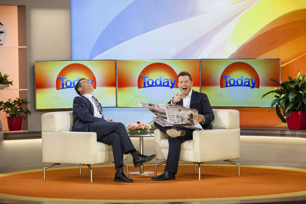 Karl Stefanovic and Ben Fordham of Channel Nine's 'Today'