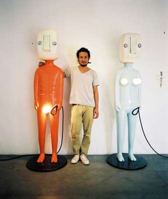 Artist Khun Hern at his gallery, SeeScape