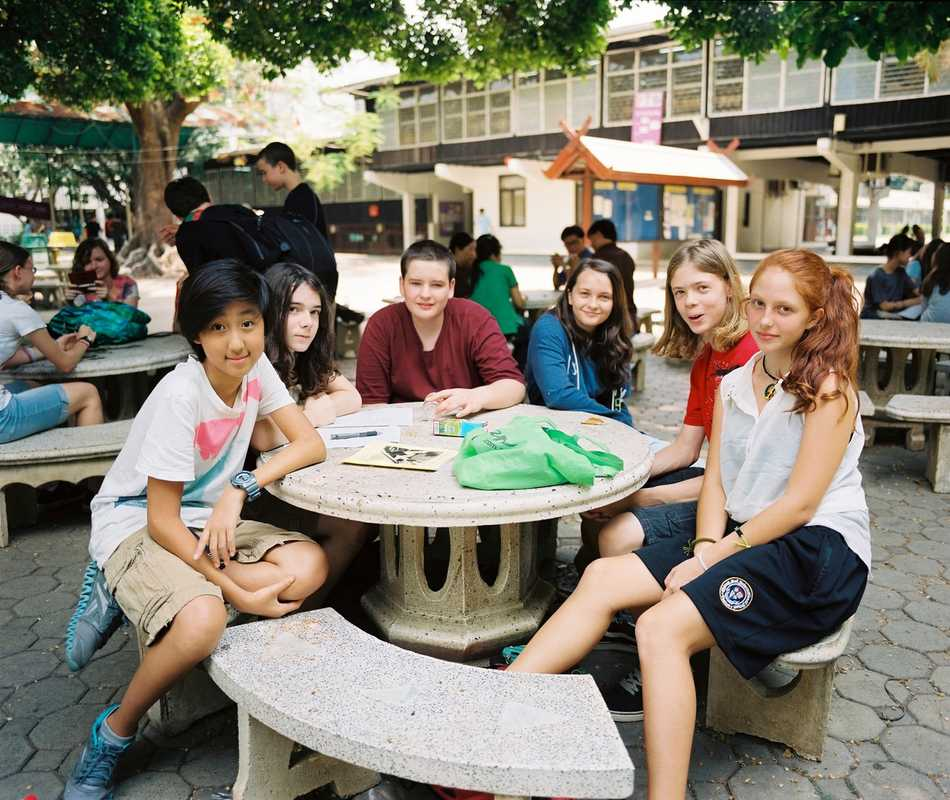 Students enjoy their lunch break at Chiang Mai International School