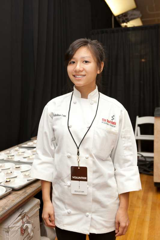 Adeline Lau, a Chocolate Fair volunteer