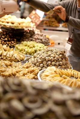 Moroccan pastries at La Gazelle D'Or
