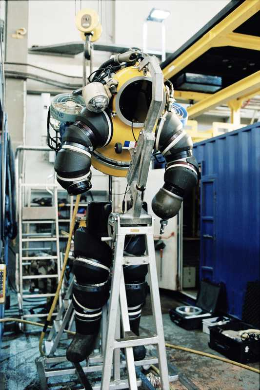 The Newtsuit allows a person to walk along the seabed