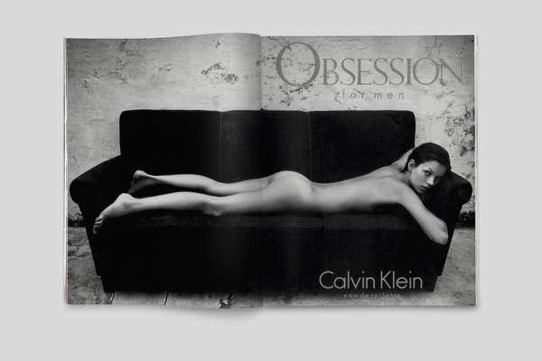 Calvin Klein Obsession for Men ad campaign, 1993, photo by Mario Sorrenti