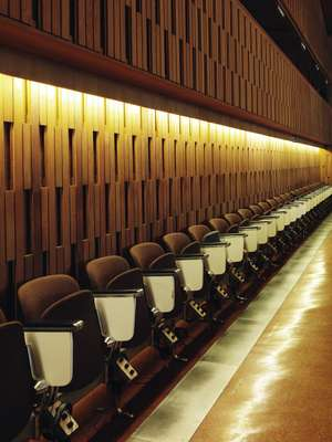Conference hall bucket seats