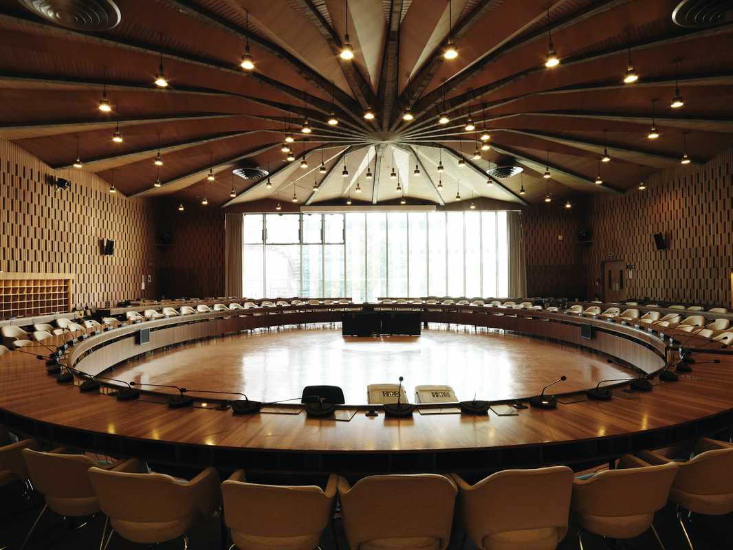 Executive board meeting room