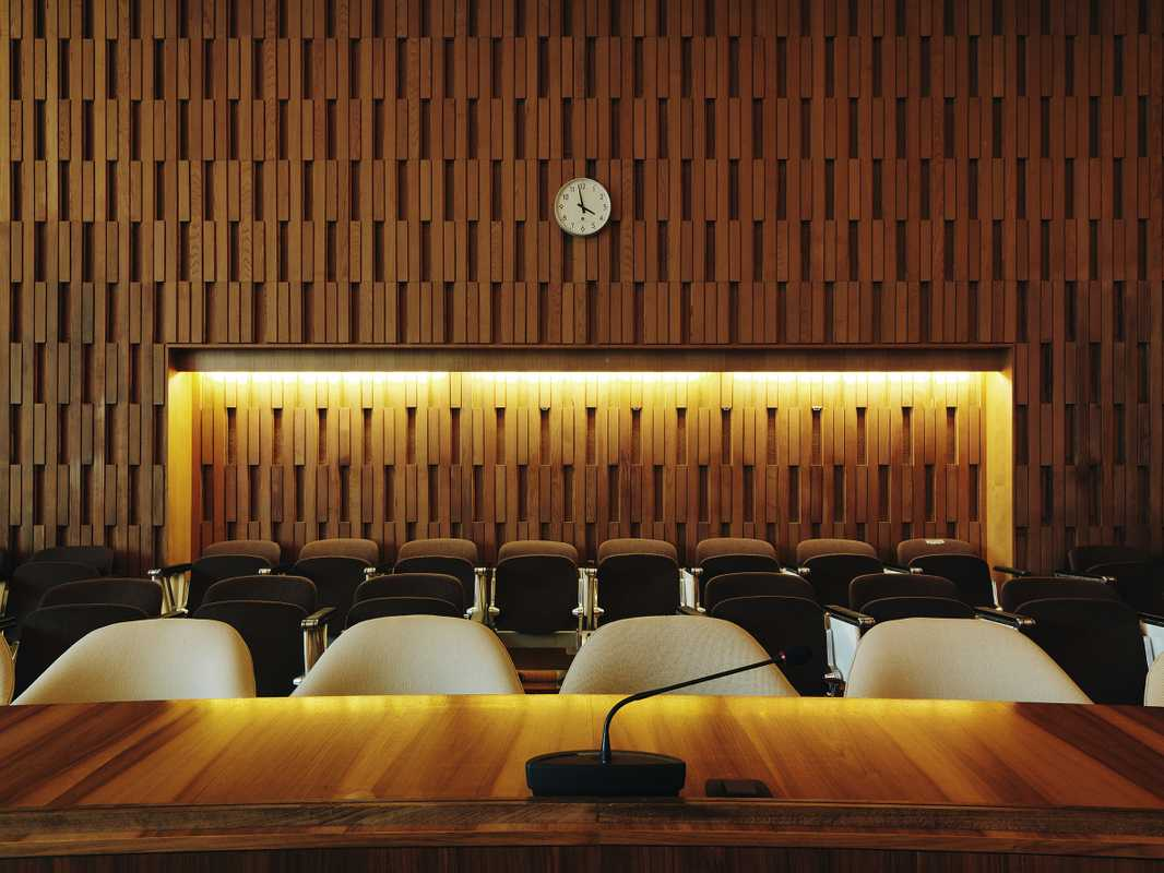 Speaking platform in the Conference hall