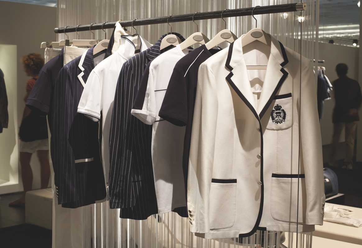 Monochrome clothing by Corneliani
