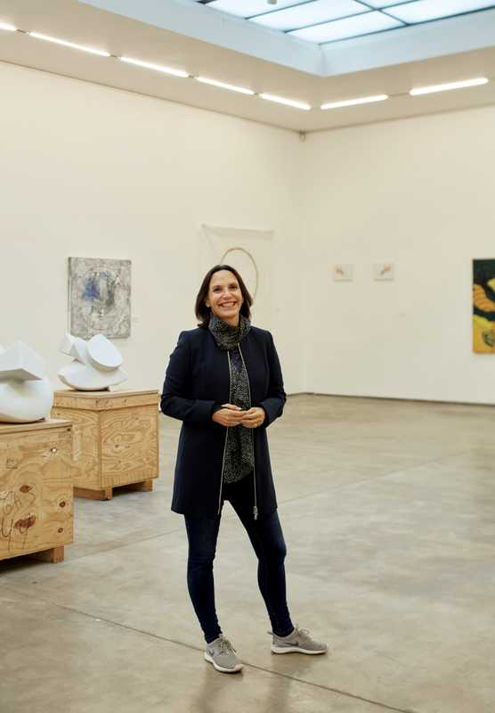 Lucía de la Puente in her art gallery, a Barranco fixture for more than 20 years