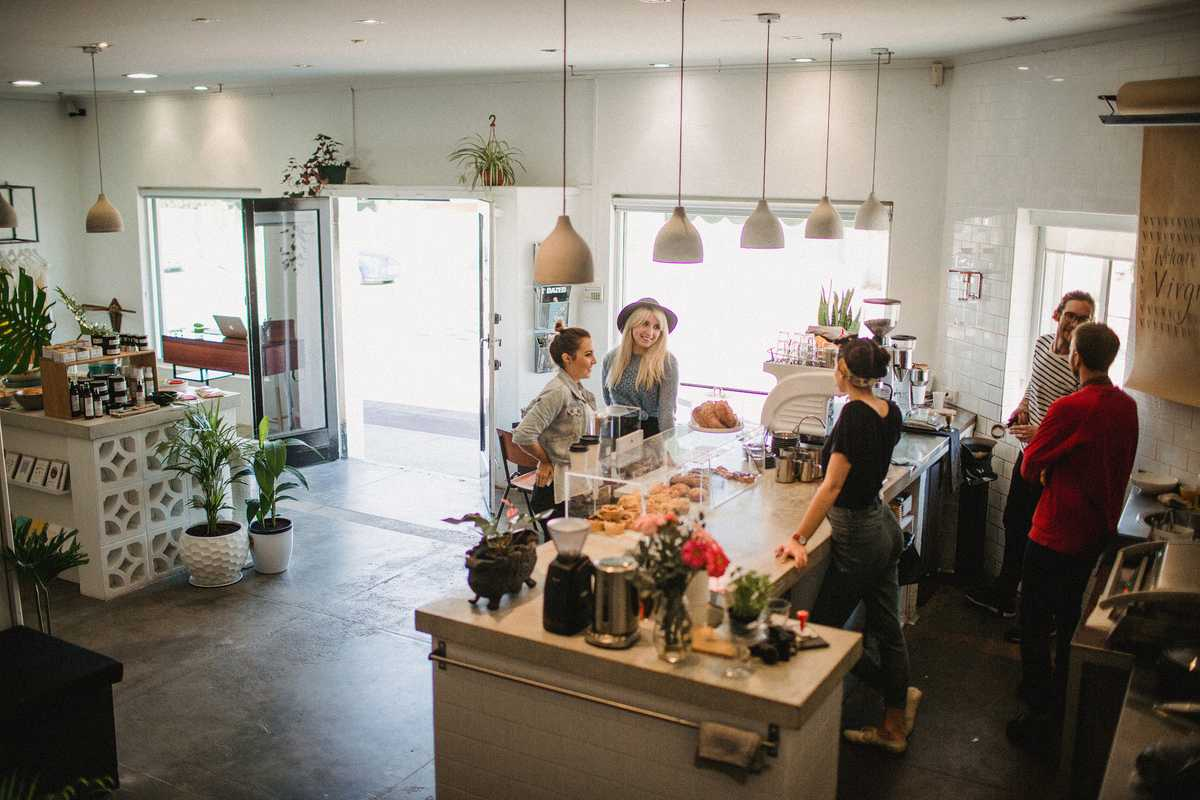 On a Whim and Virgil Coffee owners compare notes at 324 Oxford