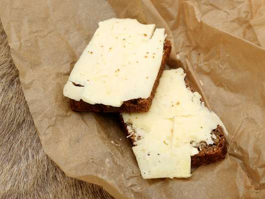 On the menu: rye bread and cheddar cheese