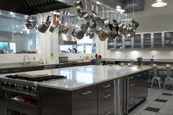 One of the cookery school kitchens