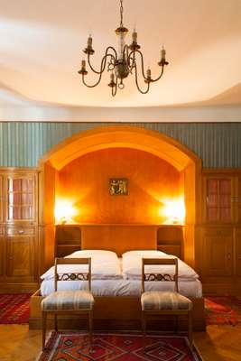 One of the Stifterhof's many guest rooms