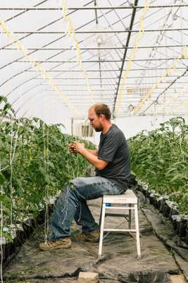 Jeff Gilbert, a hydroponic grower at Recovery Park