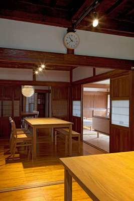 Dining room, where staff eat meals prepared together