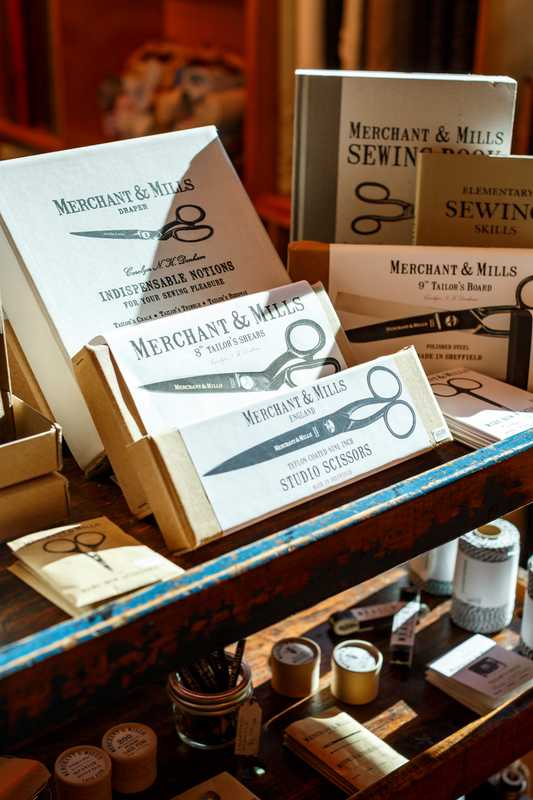 Sheffield-steel tailoring scissors for sale in Josephine's Dry Goods, Portland